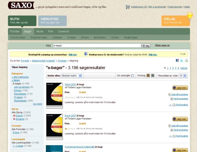 Saxo.com e-bøger tilbud