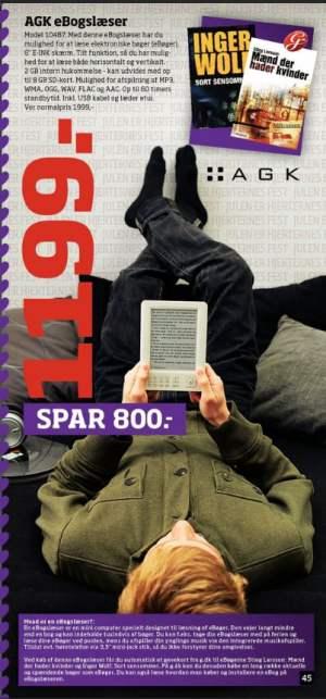 AGK e-bogslæser til 1199,- i Bilka i uge 51