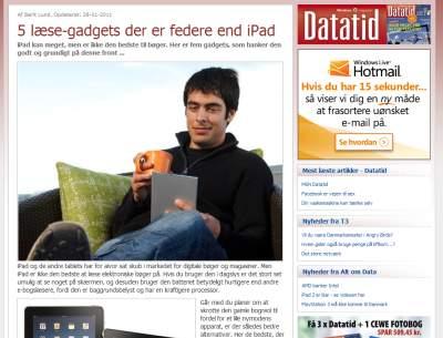 Artikel i Datatid om 5 gode e-bogslæsere