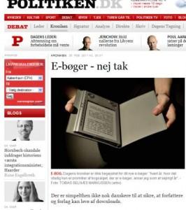 Leif Davidsens kronik om e-bøger