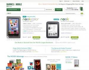 barnes & Noble Nook hjemmeside