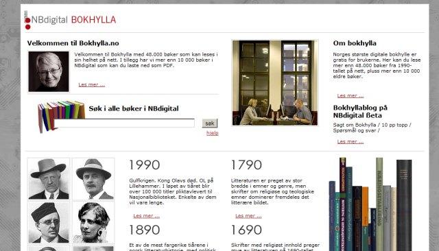 Bokhylla.no - hent norske e-bøger gratis